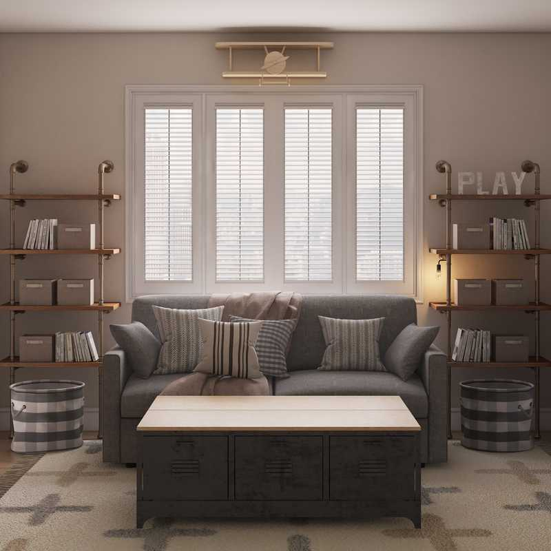Industrial, Farmhouse, Rustic, Transitional Bedroom Design by Havenly Interior Designer Stacy
