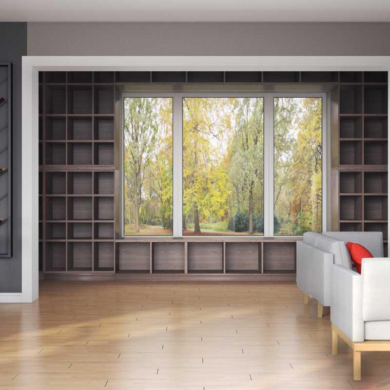 Farmhouse Living Room Design by Havenly Interior Designer Izzy