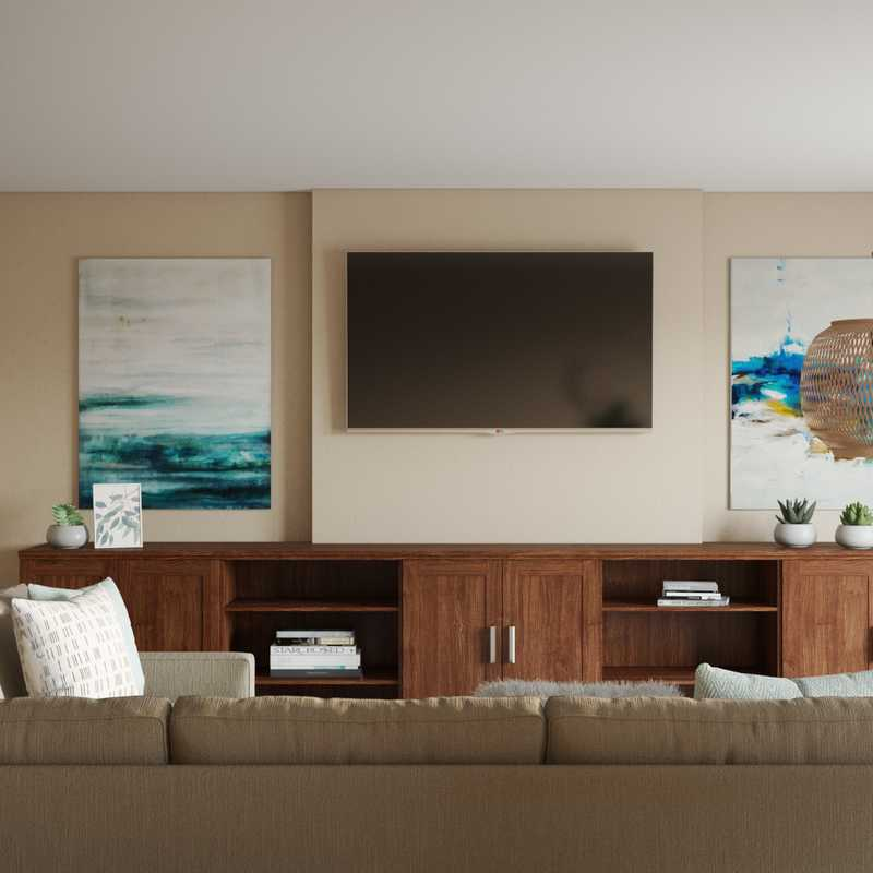 Coastal Living Room Design by Havenly Interior Designer Junya