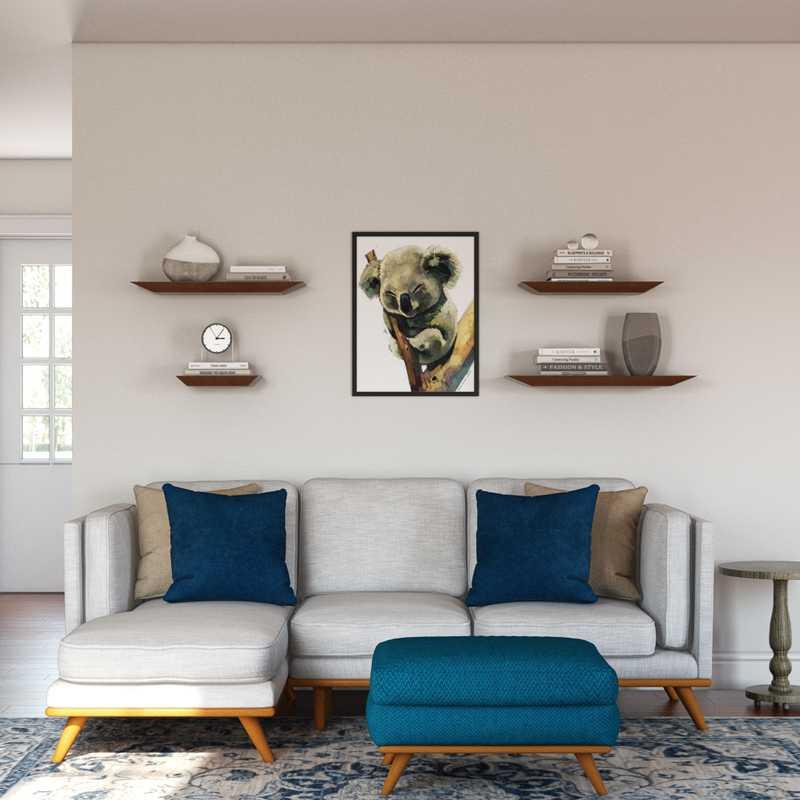 Modern, Bohemian, Midcentury Modern Living Room Design by Havenly Interior Designer Laura