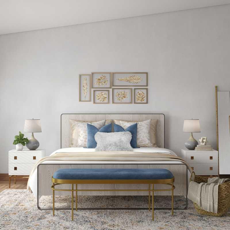 Contemporary, Glam, Minimal Bedroom Design by Havenly Interior Designer Maria