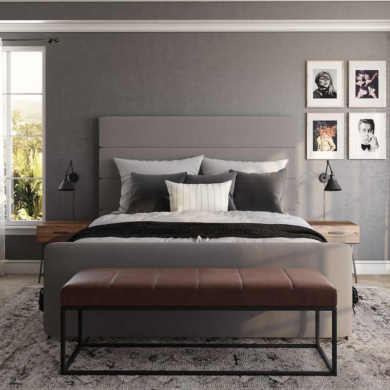Modern, Rustic, Scandinavian Bedroom Design by Havenly Interior Designer Chelsea