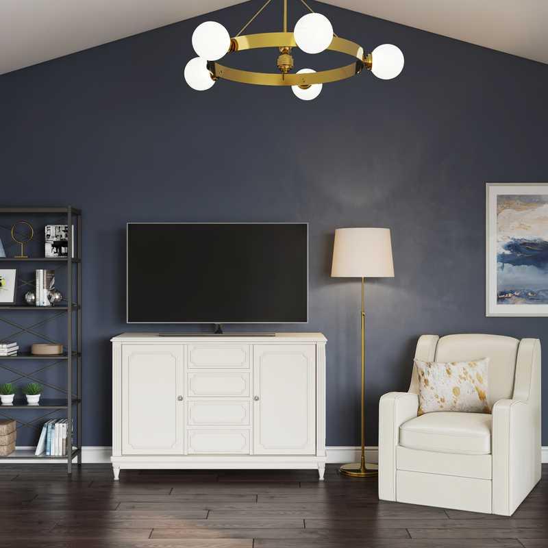 Transitional Living Room Design by Havenly Interior Designer Kristine