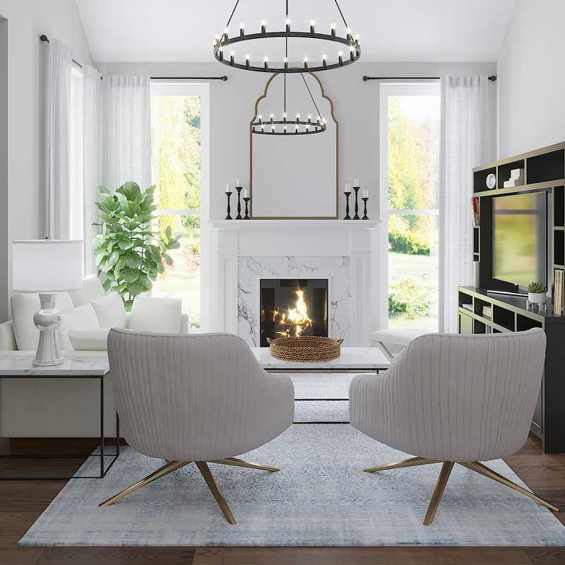 Transitional Living Room Design by Havenly Interior Designer Paige