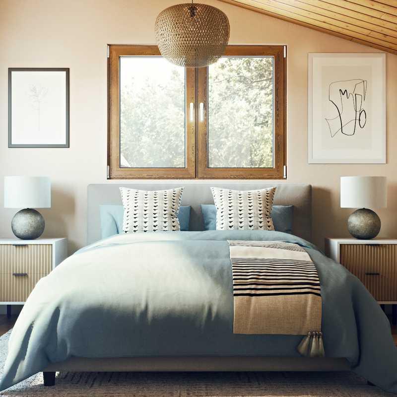 Bohemian, Global, Midcentury Modern Bedroom Design by Havenly Interior Designer Sydney