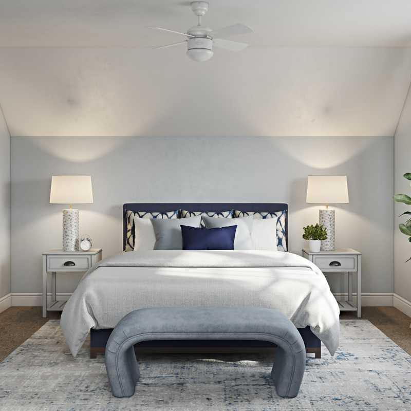 Classic, Coastal, Preppy Bedroom Design by Havenly Interior Designer Lisa