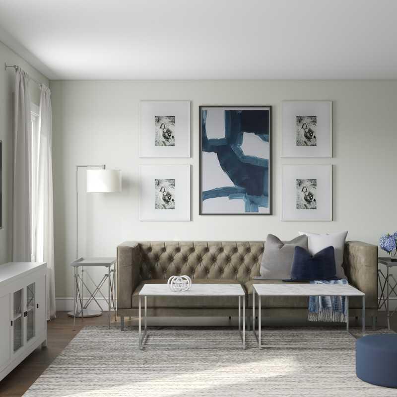 Contemporary, Modern Living Room Design by Havenly Interior Designer Lisa