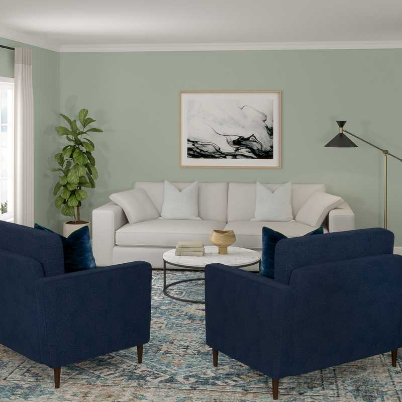 Contemporary, Modern, Minimal, Scandinavian Living Room Design by Havenly Interior Designer Katherine