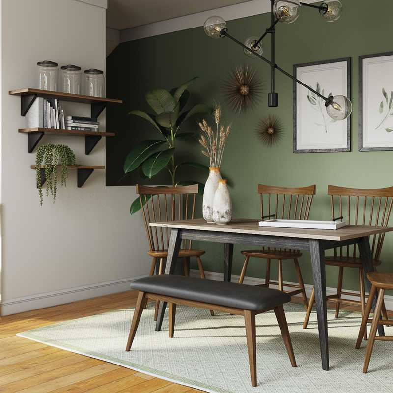 Modern, Midcentury Modern Dining Room Design by Havenly Interior Designer Soniya