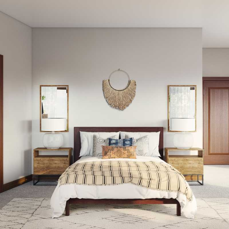 Bohemian, Midcentury Modern Bedroom Design by Havenly Interior Designer Isabella