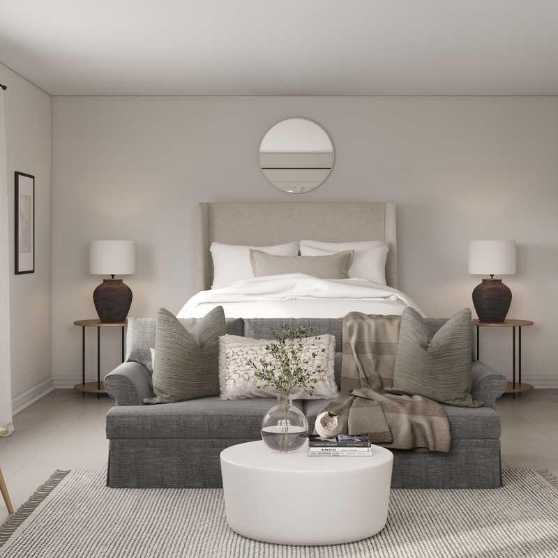 Contemporary, Eclectic, Bohemian Bedroom Design by Havenly Interior Designer Sarah