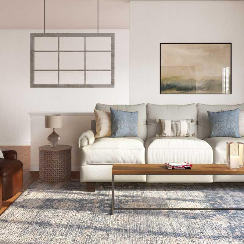 Modern, Farmhouse, Transitional Living Room Design by Havenly Interior Designer Tara