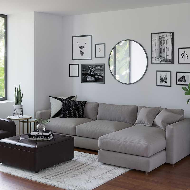Midcentury Modern, Scandinavian Living Room Design by Havenly Interior Designer Tori