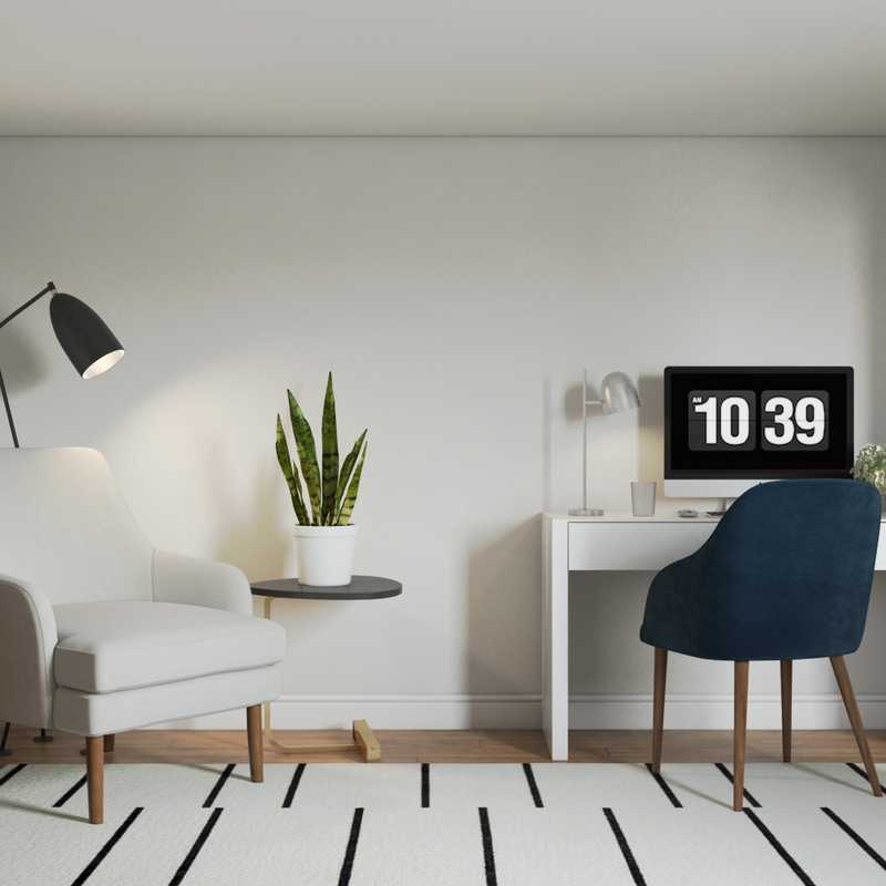 Contemporary, Modern, Minimal Office Design by Havenly Interior Designer Kelcy