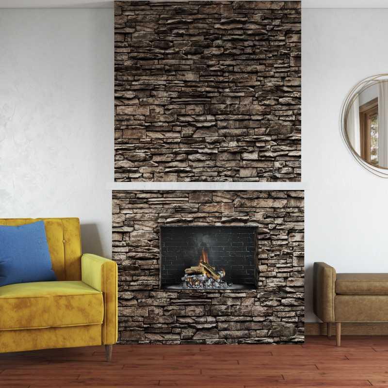 Modern, Eclectic, Glam Living Room Design by Havenly Interior Designer Emma