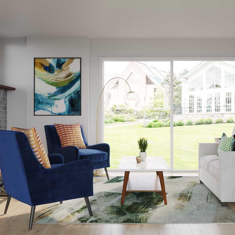 Eclectic, Bohemian Living Room Design by Havenly Interior Designer Morgan