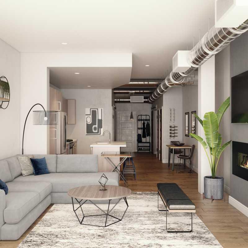 Contemporary, Industrial Living Room Design by Havenly Interior Designer Sharon