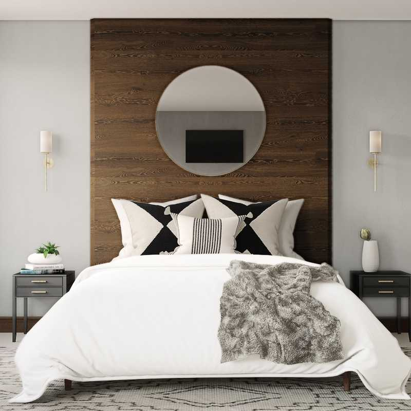 Contemporary, Modern, Glam Bedroom Design by Havenly Interior Designer Lindsay