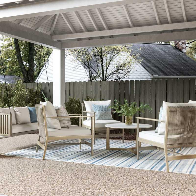 Classic, Bohemian, Coastal, Midcentury Modern, Scandinavian Living Room Design by Havenly Interior Designer Christine