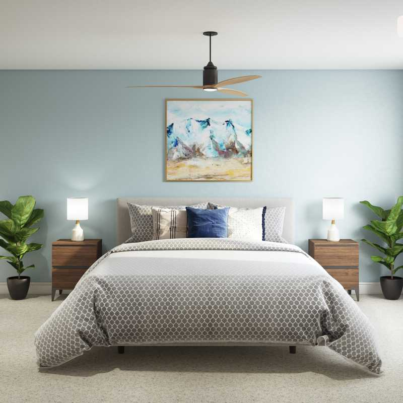Classic, Midcentury Modern Bedroom Design by Havenly Interior Designer Laura