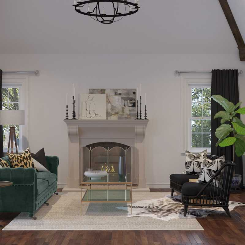 Eclectic, Traditional Living Room Design by Havenly Interior Designer Paige