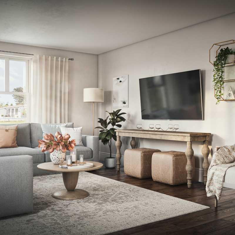 Coastal, Farmhouse, Rustic, Transitional Living Room Design by Havenly Interior Designer Fendy