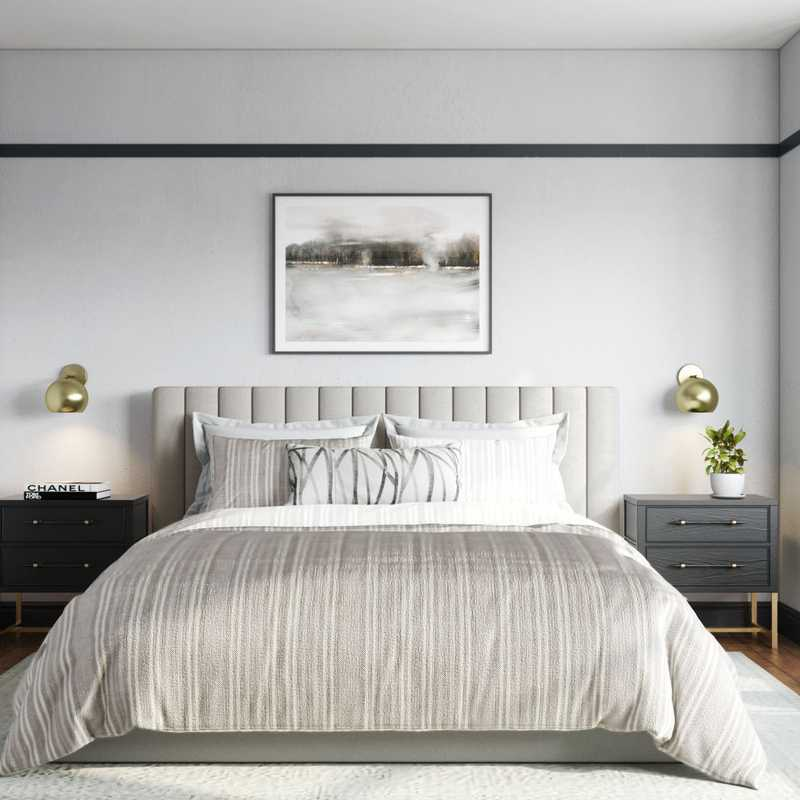 Classic, Transitional, Midcentury Modern Bedroom Design by Havenly Interior Designer Leslie