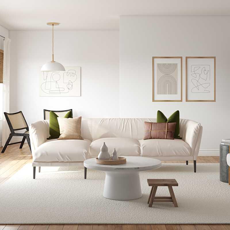 Bohemian, Midcentury Modern, Minimal Living Room Design by Havenly Interior Designer Kasey