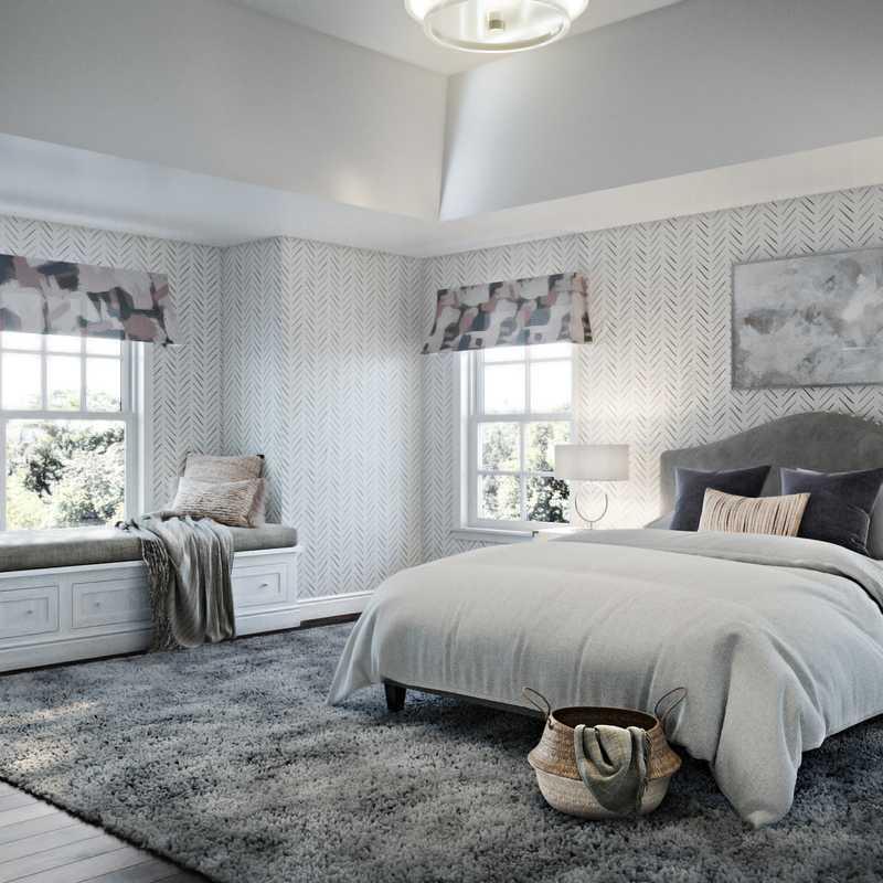 Contemporary, Bohemian Bedroom Design by Havenly Interior Designer Rebecca