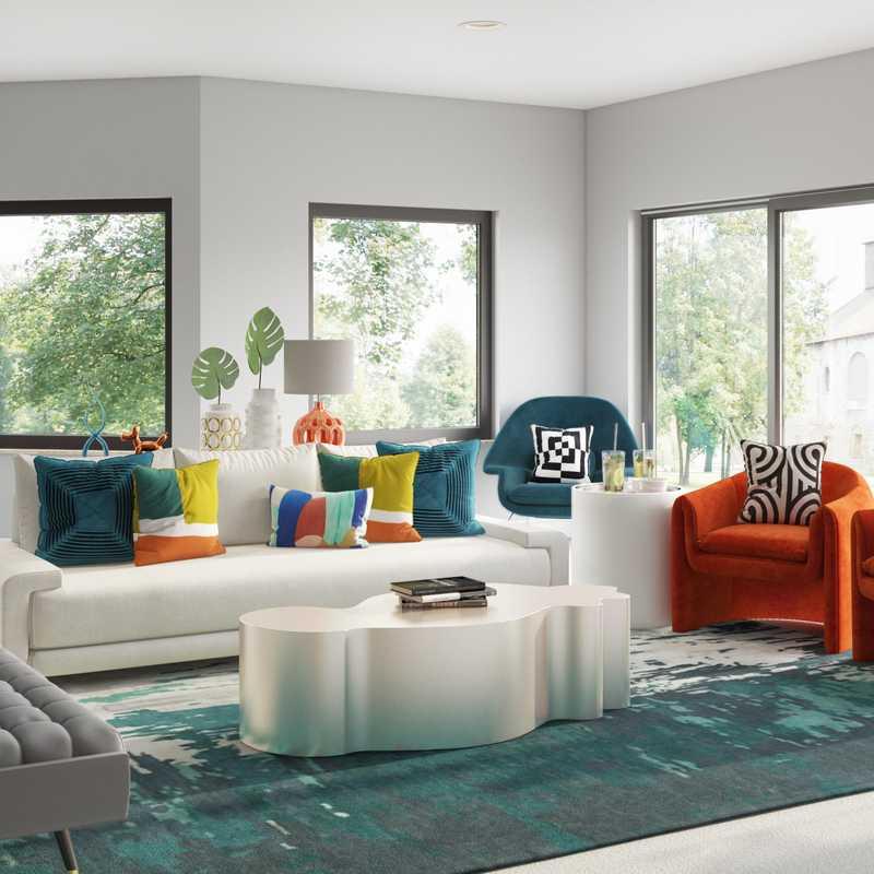 Contemporary, Midcentury Modern, Minimal Living Room Design by Havenly Interior Designer Chanel