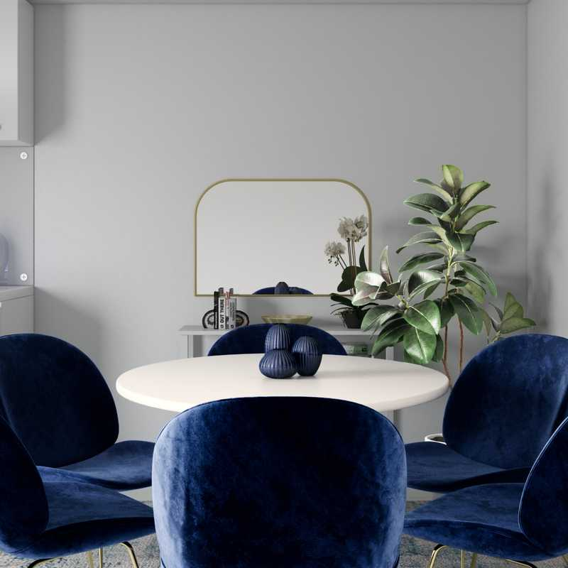 Contemporary, Classic, Glam Dining Room Design by Havenly Interior Designer Libby