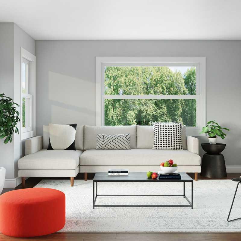 Modern Living Room Design by Havenly Interior Designer Aurelie