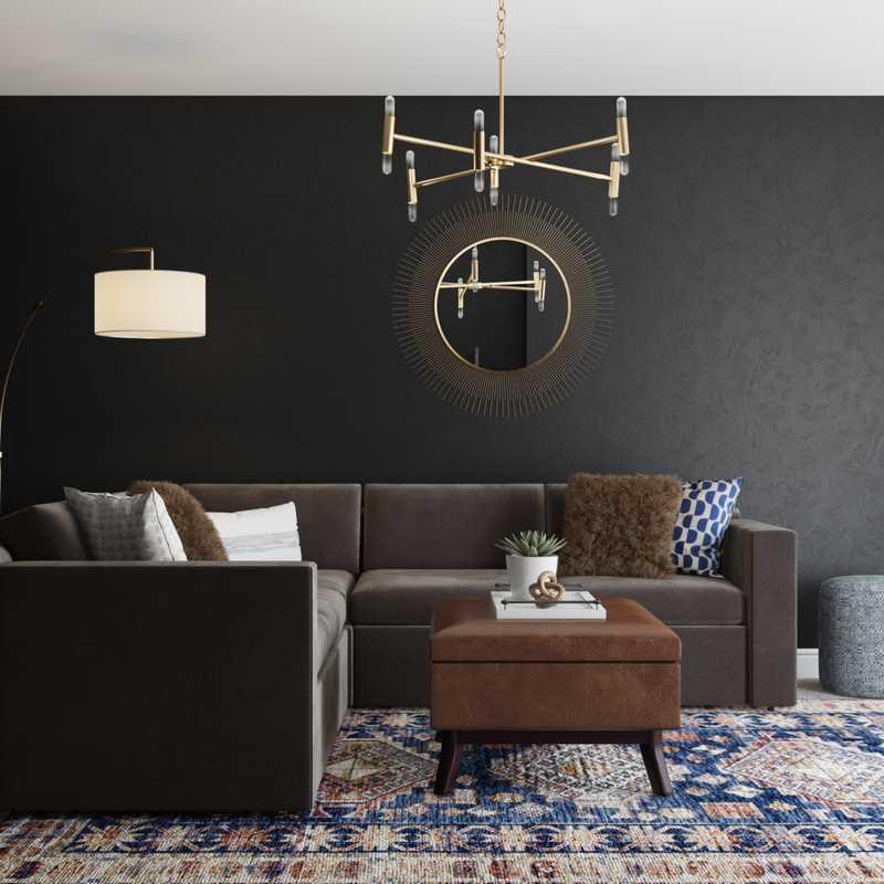 Contemporary, Modern, Classic, Glam Living Room Design by Havenly Interior Designer Emily