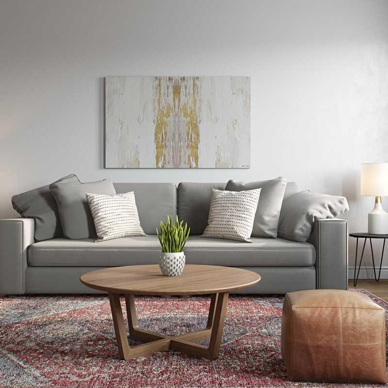 Eclectic, Bohemian, Midcentury Modern Living Room Design by Havenly Interior Designer Megan