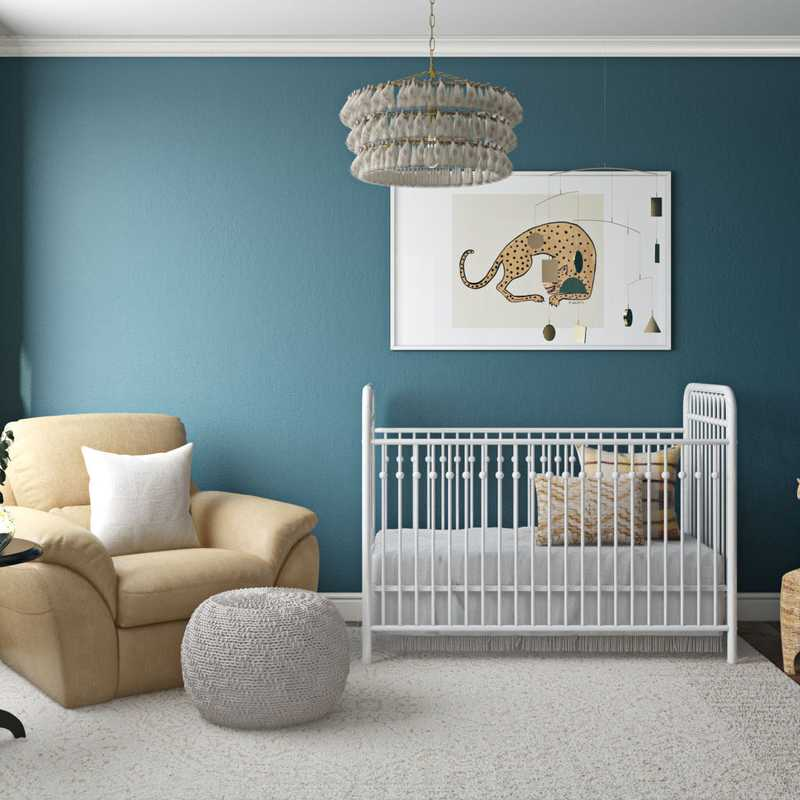 Contemporary, Eclectic Nursery Design by Havenly Interior Designer Sarah