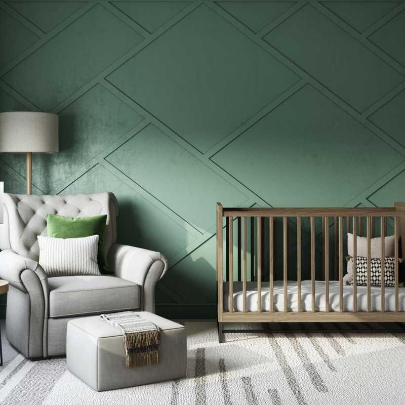 Modern, Minimal, Scandinavian Nursery Design by Havenly Interior Designer Maria