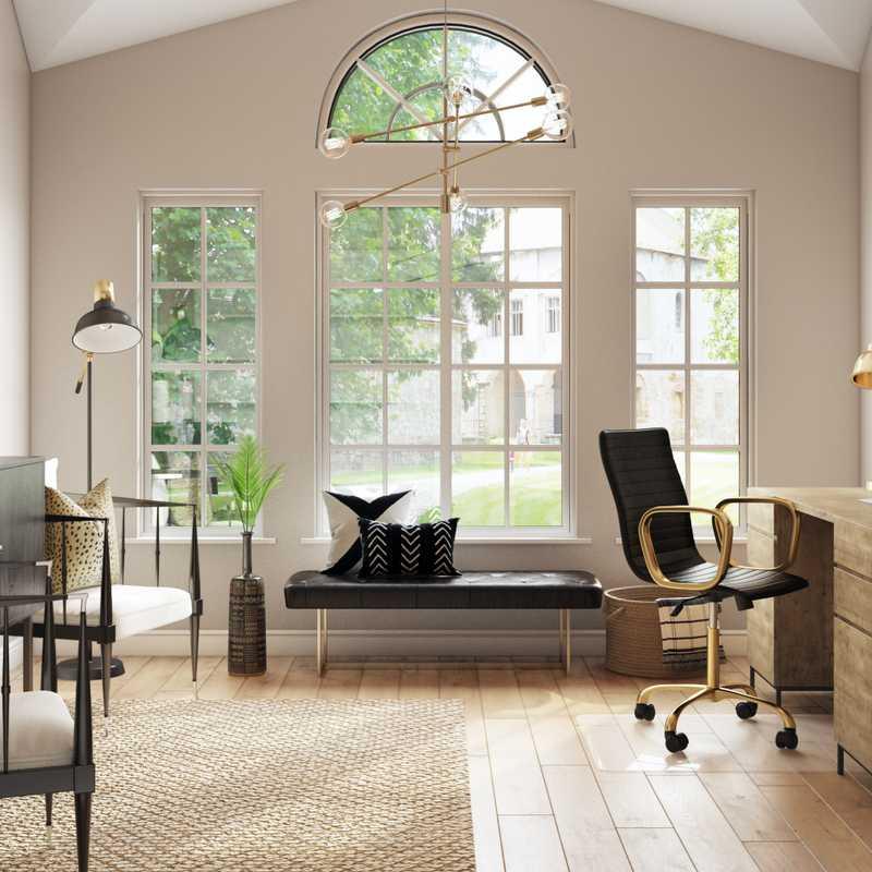 Contemporary, Modern, Glam, Industrial, Scandinavian Office Design by Havenly Interior Designer Maggie