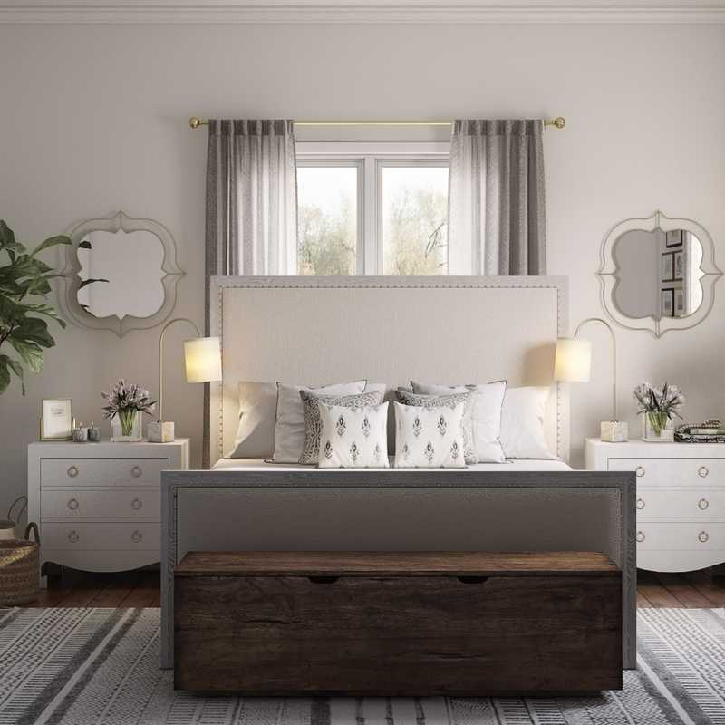 Contemporary, Modern, Classic, Coastal, Glam Bedroom Design by Havenly Interior Designer Sophia