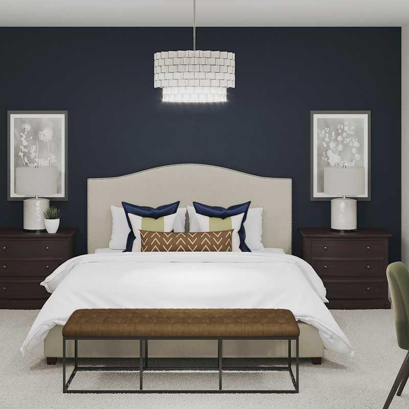 Classic, Eclectic Bedroom Design by Havenly Interior Designer Sara