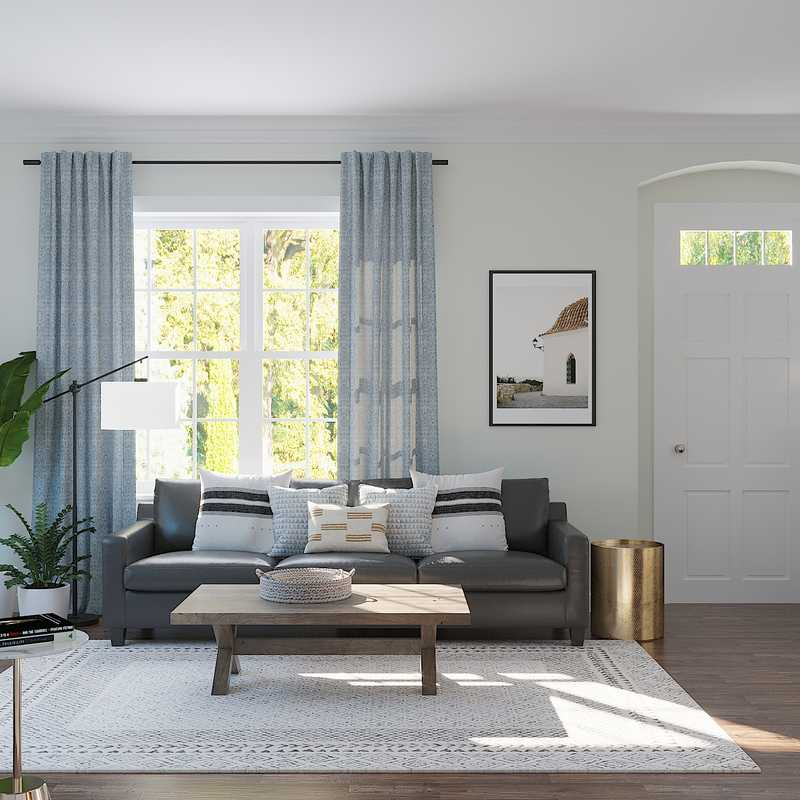 Eclectic, Transitional Living Room Design by Havenly Interior Designer Brianna