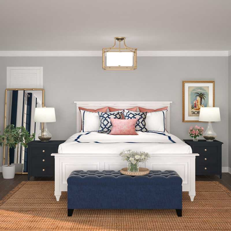 Classic, Coastal, Glam, Traditional, Preppy Bedroom Design by Havenly Interior Designer Lisa