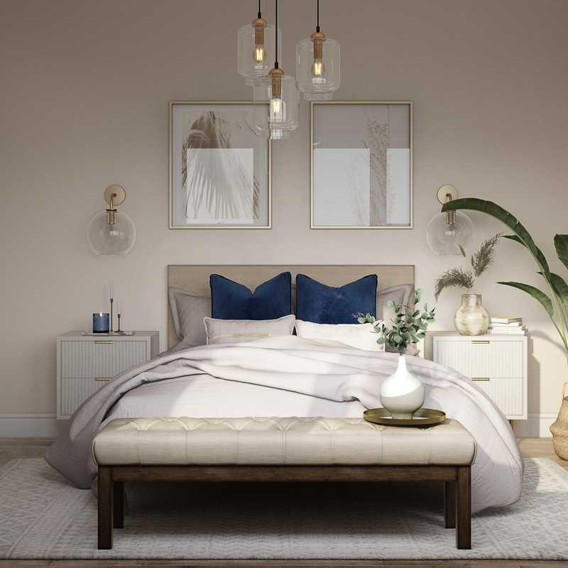 Bohemian Bedroom Design by Havenly Interior Designer Lilly