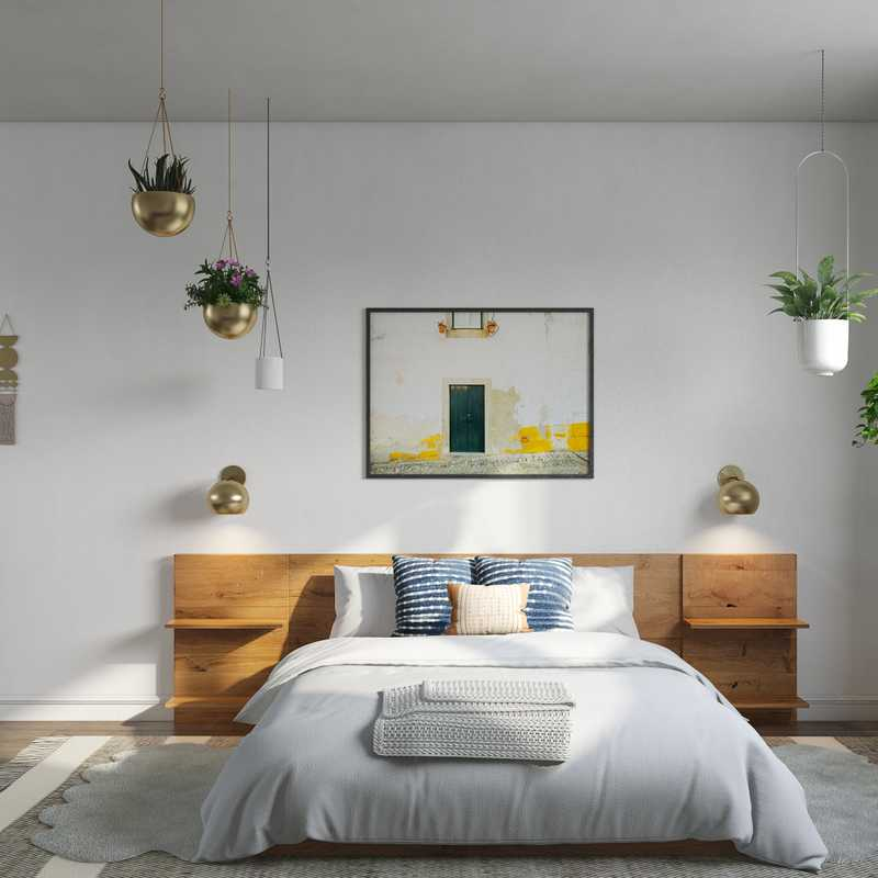 Modern, Bohemian, Glam Bedroom Design by Havenly Interior Designer Isabella