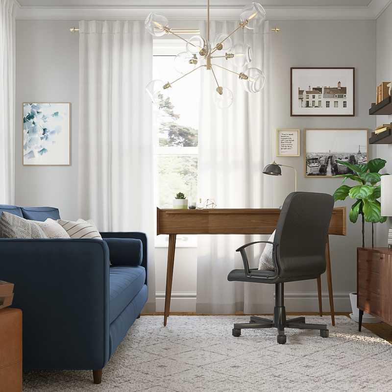 Bohemian Office Design by Havenly Interior Designer Samantha