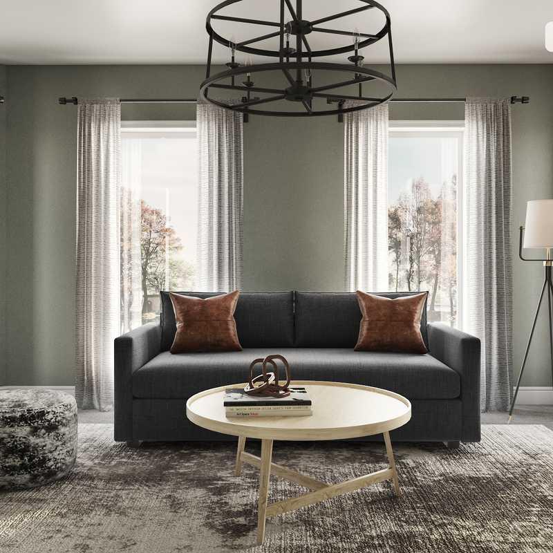 Industrial, Farmhouse Office Design by Havenly Interior Designer Elyse