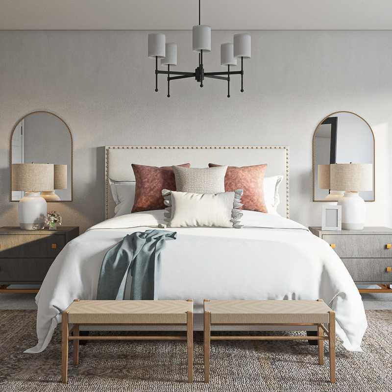 Coastal, Farmhouse Bedroom Design by Havenly Interior Designer Yoseika