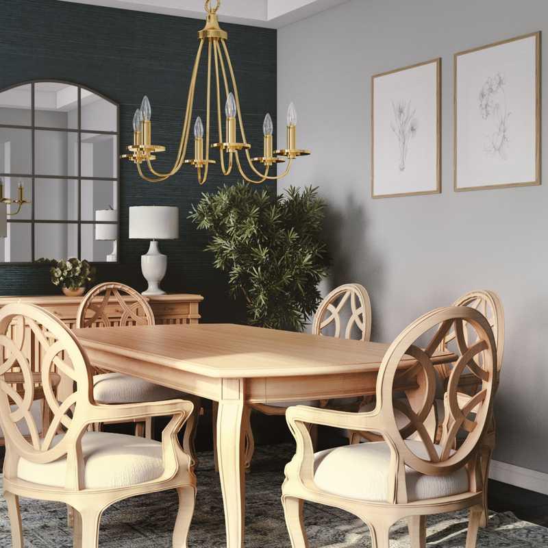 Transitional Dining Room Design by Havenly Interior Designer Isabella