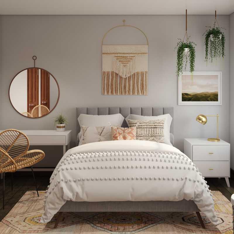 Eclectic, Bohemian, Global Bedroom Design by Havenly Interior Designer Wendy