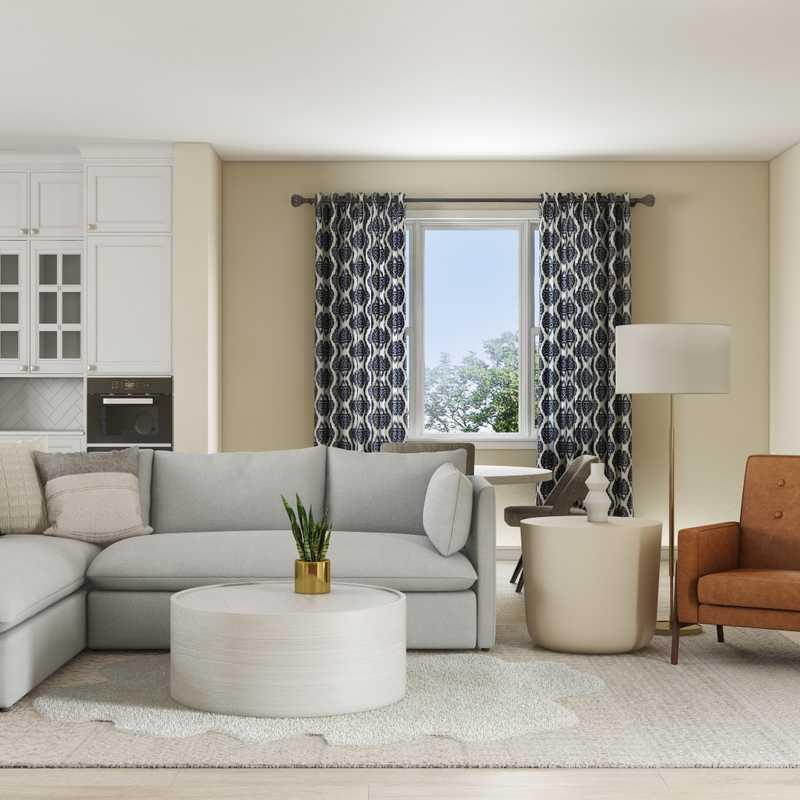 Modern, Classic, Bohemian Living Room Design by Havenly Interior Designer Jessie