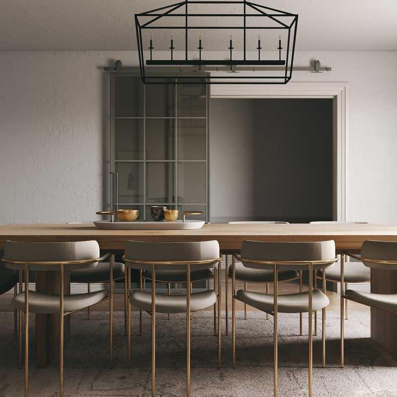 Farmhouse, Midcentury Modern, Scandinavian Dining Room Design by Havenly Interior Designer Carsey